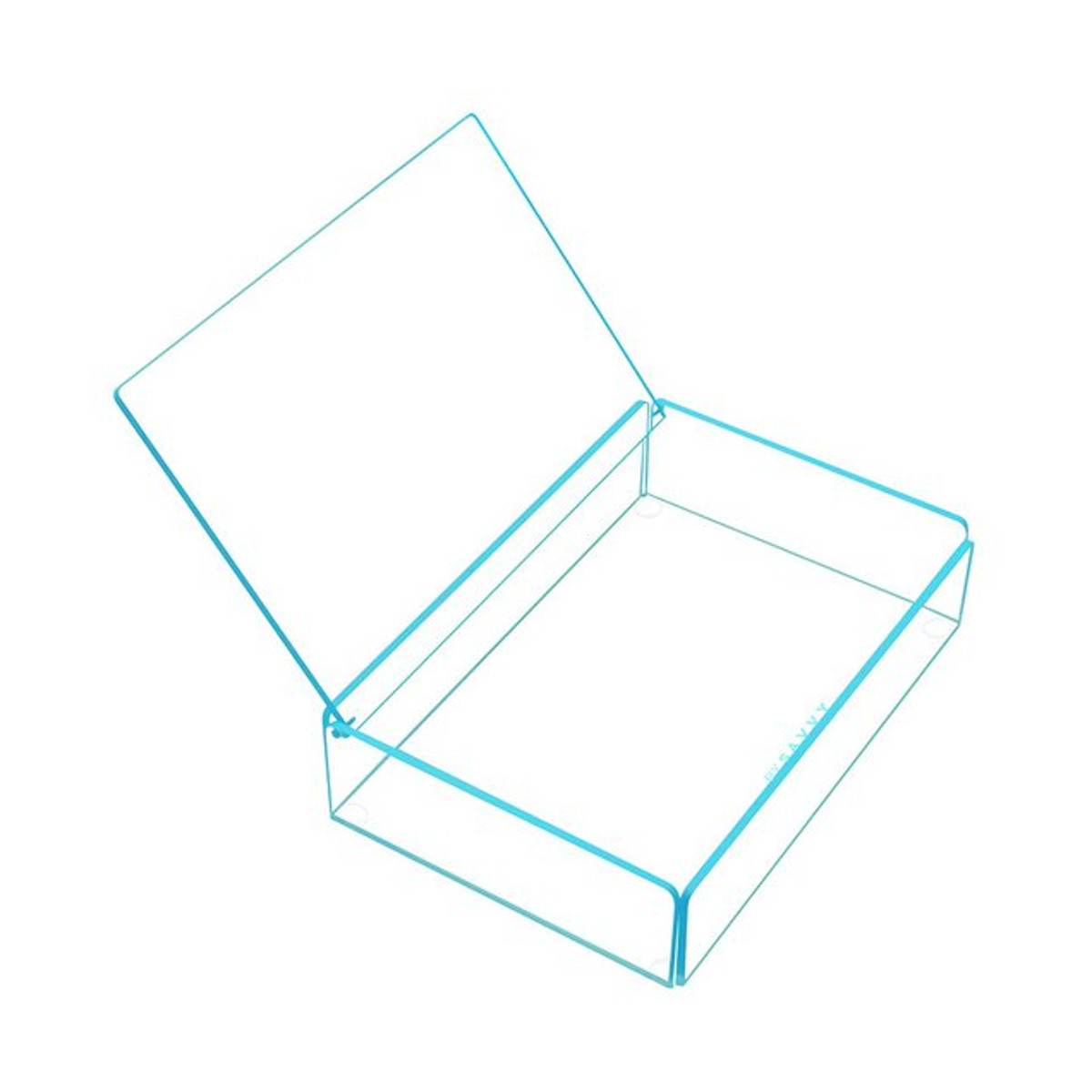 Flash Tidy Acrylic Small Tray with Lid blue