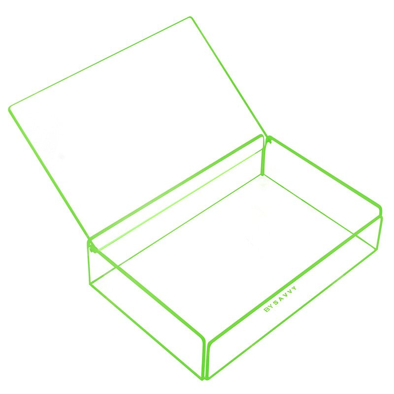 Flash Tidy Acrylic Small Tray with Lid green