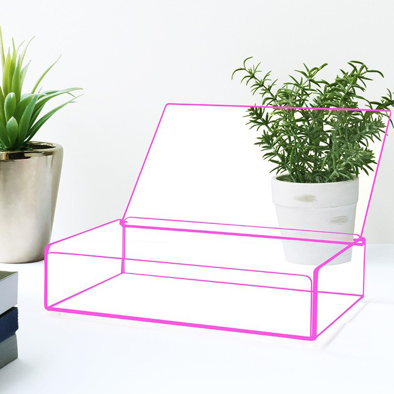 Flash Tidy Acrylic Small Tray with Lid pink