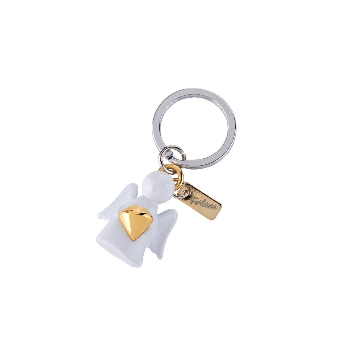 KEY CHAIN GUARDIAN ANGEL WITH DIAMOND GOLD