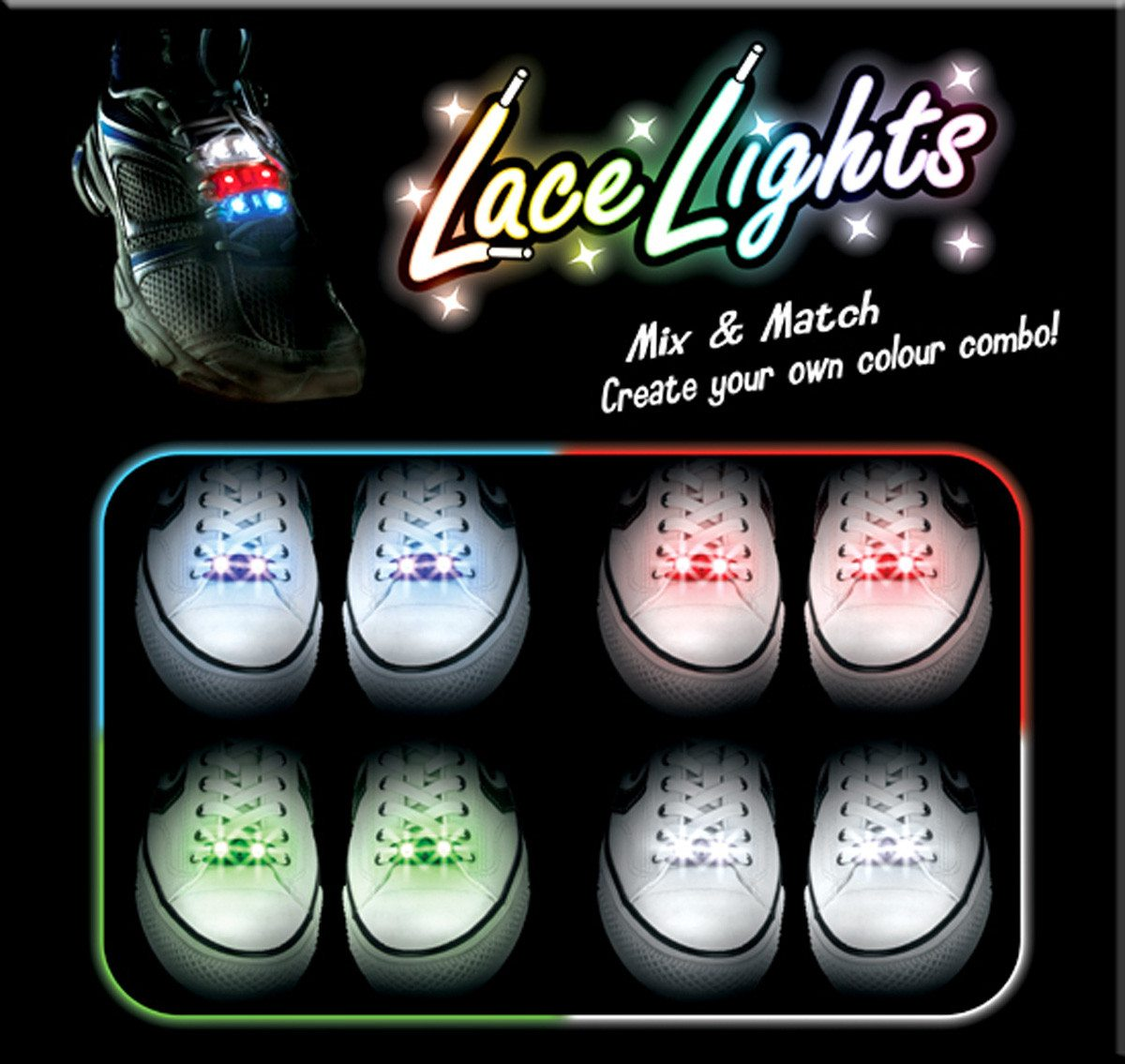 Lace Lights LED-kengännauhavalot