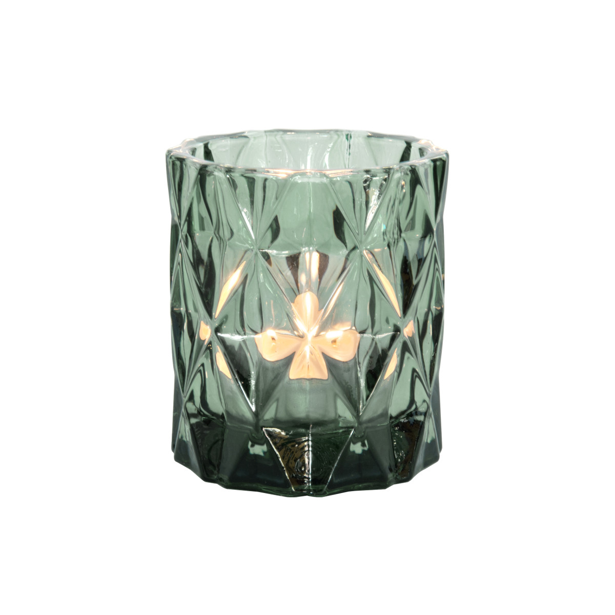 Tealight Holde Set Gem green