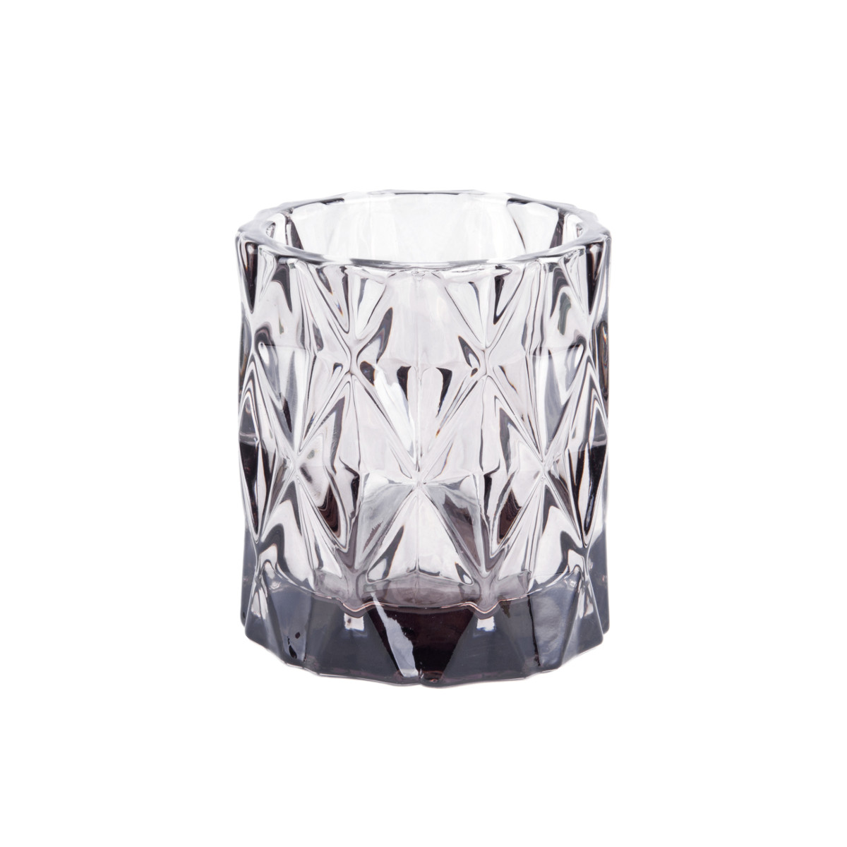 Tealight Holde Set Gem grey