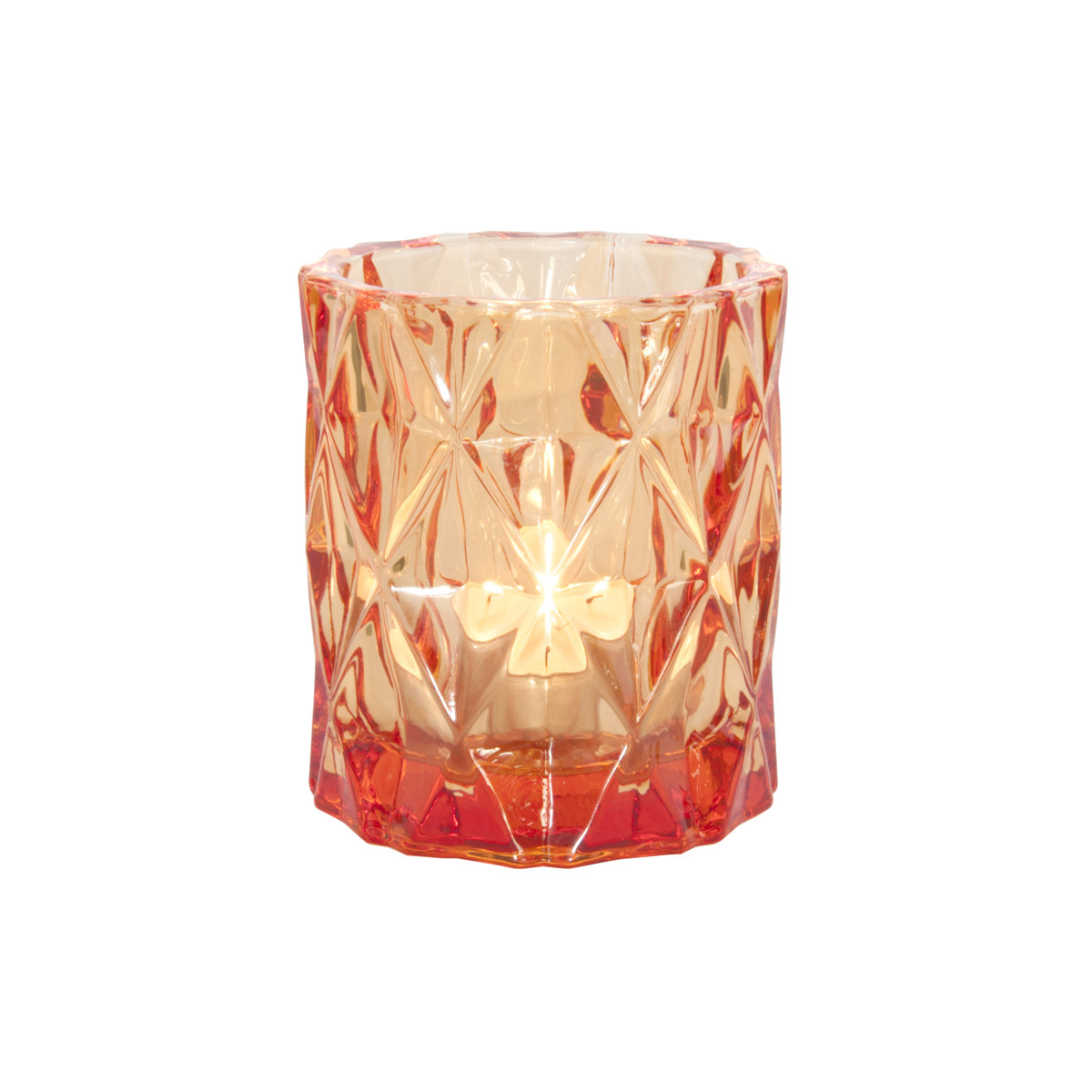 Tealight Holde Set Gem orange