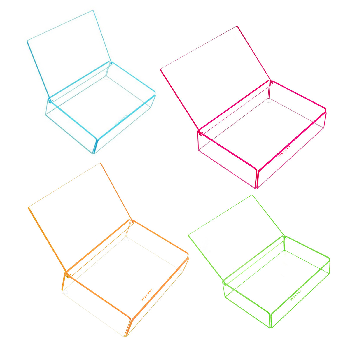 Flash Tidy Acrylic Small Tray with Lid