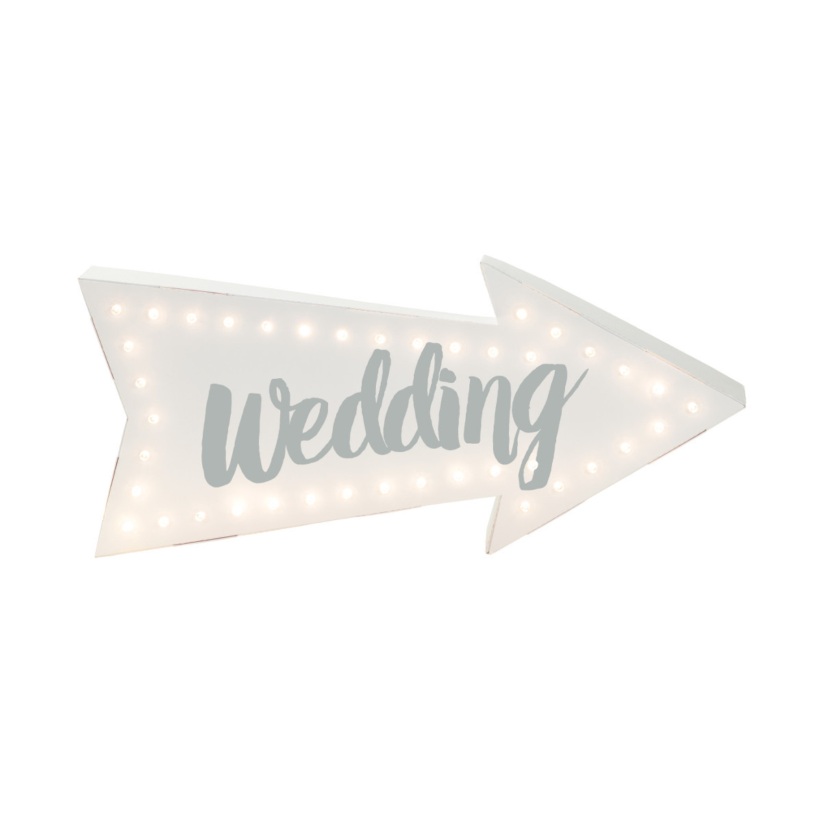 "LED-Schild ""Wedding"""
