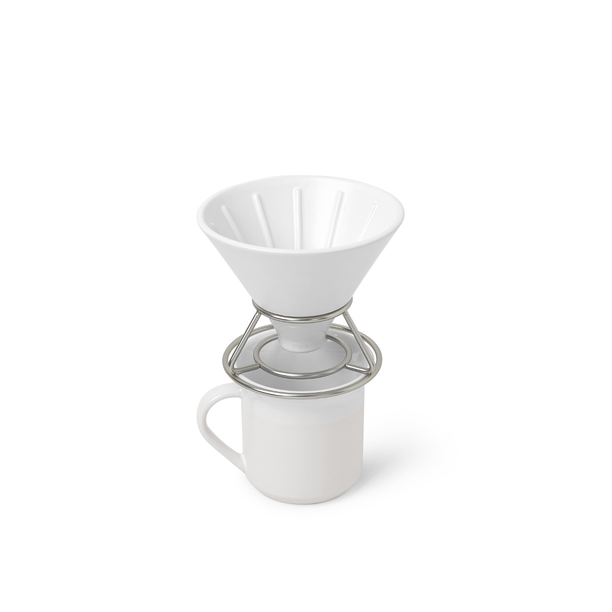 PERK COFFEE POUR OVER WHT/NKL