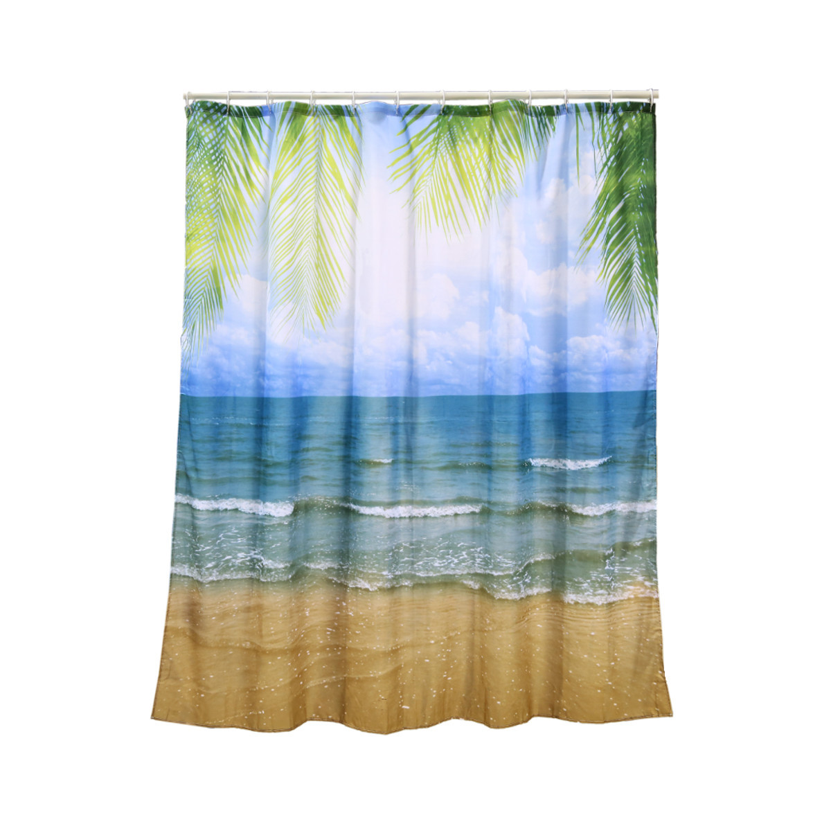Shower curtain beach