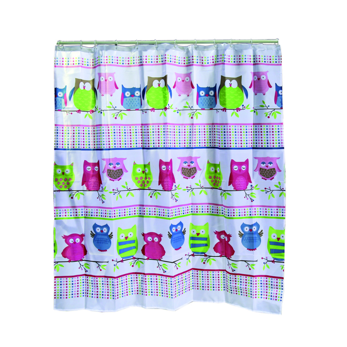 Shower curtain owls