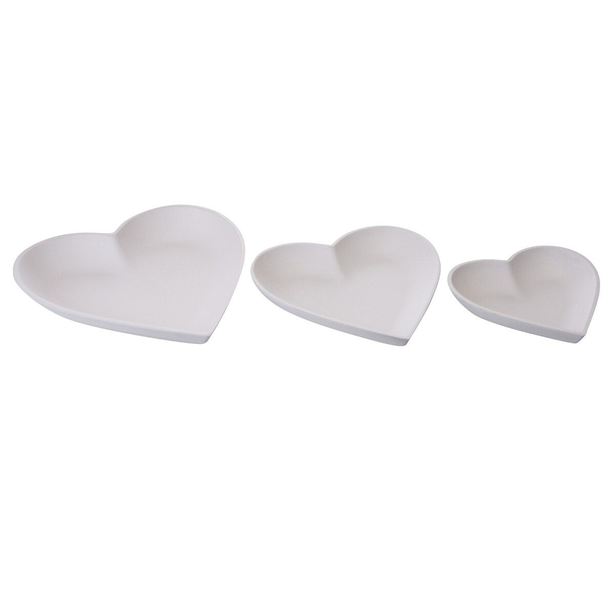 TABLE BOWLS IN HEART SHAPE SET OF 3