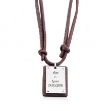 PERSONALIZED LEATHER DOG TAG b54b480068