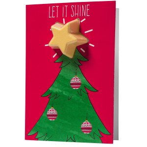 Let It Shine Christmas Tree kortti