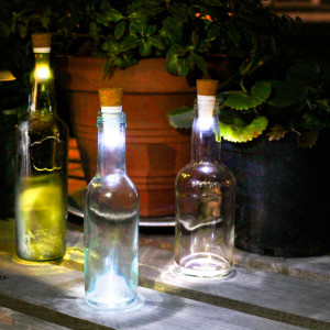 Bottle Light - Lasipullon valokorkkiDas Flaschenlicht
