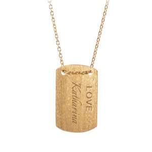 PERNILLE CORYDON: PERSONALIZED LOVE SIGN NECKLACE