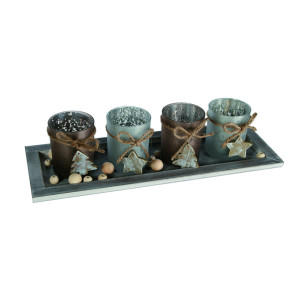 Winterly table decoration set